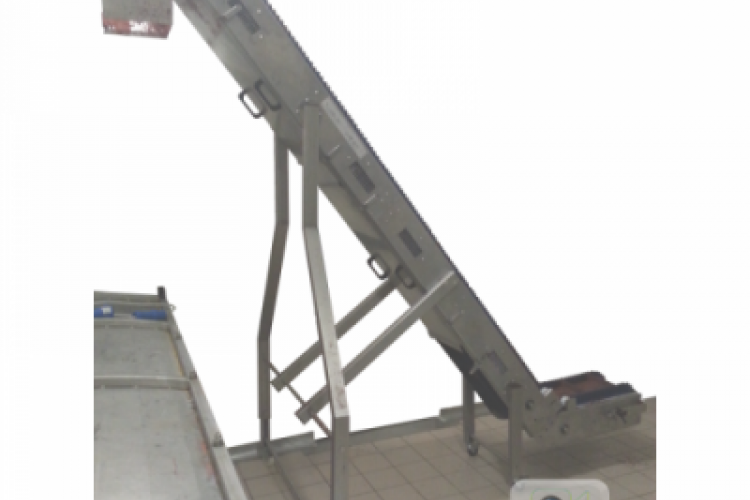 motorized conveyor belt inox structure NT for Food Industries lift version
