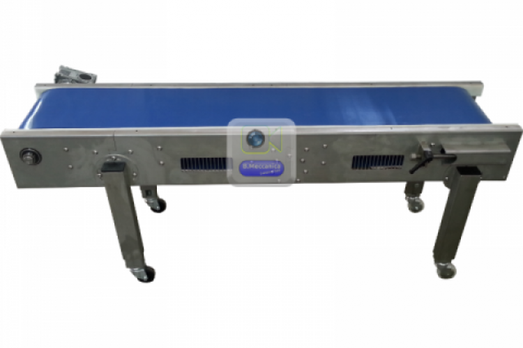 motorized conveyor belt inox structure NT for Food Industries